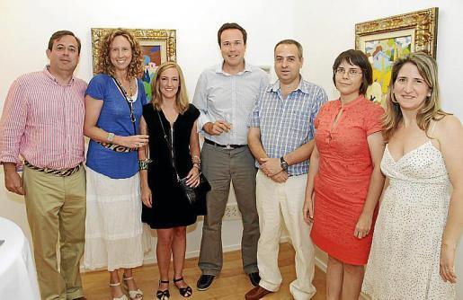 Federico Ramón de Armas, Maria Ques, María de Palacio, Luis Ques, Carles Díaz, Sara Tirado y Amanda Corral.