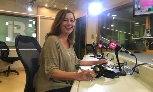 Francina Armengol, durante la entrevista en IB3 Radio.