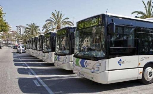 Autobuses de la EMT, en Palma.