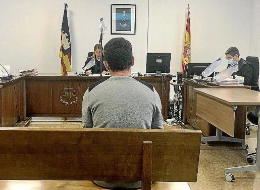 El acusado en el juicio celebrado en Palma.
