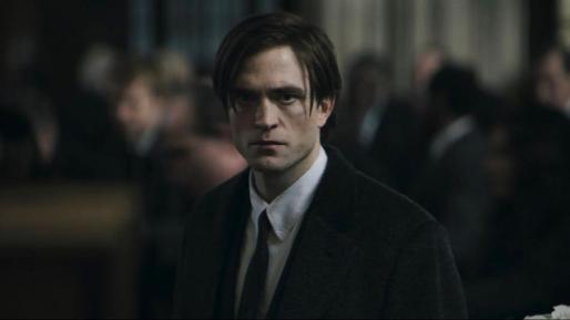 El actor Robert Pattinson en un momento del rodaje de 'The Batman'.