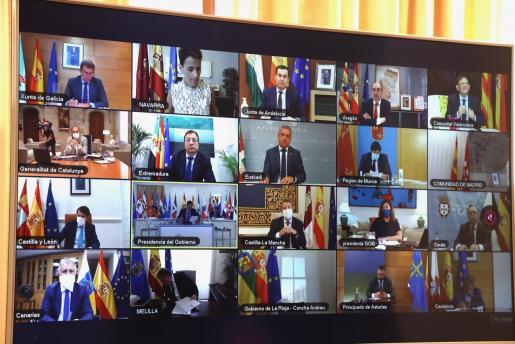 Imagen de la videoconferencia de presidentes.