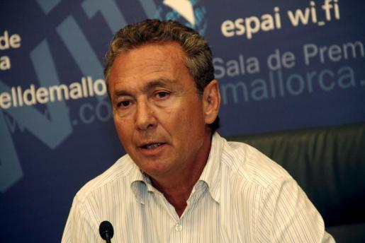 Jaume Garau, en la rueda de prensa de esta mañana.