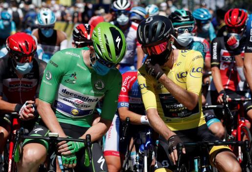 El positivo de dos miembros de un equipo conllevaría la eliminación de todos sus integrantes. Imagen de una de las salidas de la edición más atípica de la gran ronda gala.