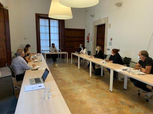 Imagen de la reunión de este martes.