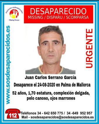 Cartel difundido por SOS Desaparecidos.