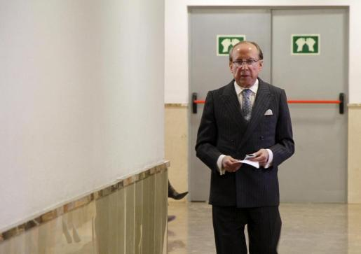 Ruiz Mateos, en una de sus escasas comparecencias en Palma.