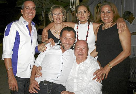 Jorge Luis Iglesias, Encarna Bernal, Toña Serra, Rosa Castaño, Yolui y Onofre Prohens.