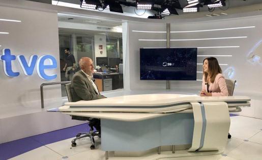 Miquel Ensenyat en TVE Balears.