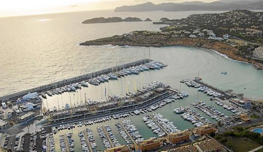 Vista aérea del puerto deportivo de Port Adriano, en El Toro (Calvià).