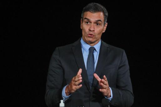 Pedro Sánchez durante la rueda la MED7 Mediterranean, este martes en Francia.