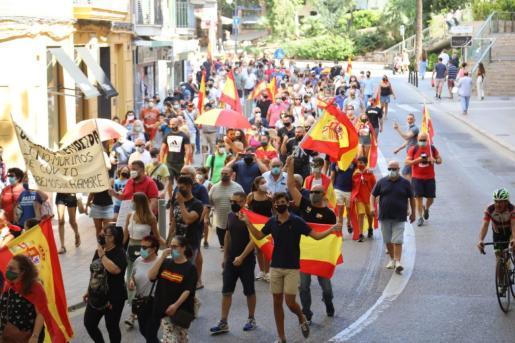 La marcha la organizó el Foro Baleares de la Solidaridad y del Progreso con el objetivo de pedir y exigir la dimisión del Gobierno de España.