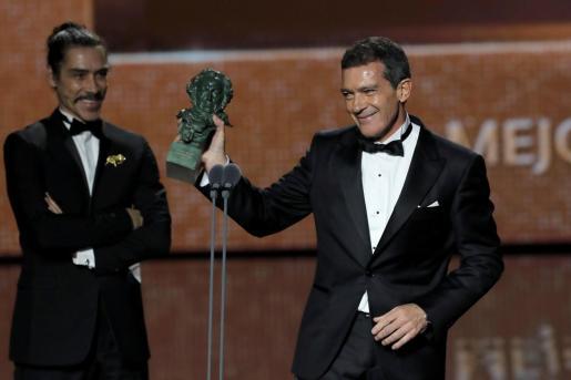 El actor Antonio Banderas recibió este 2020 el Goya al mejor actor protagonista por su trabajo en 'Dolor y Gloria'.