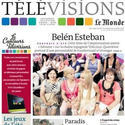 Belén Esteban retratada en un reportaje por Le Monde.