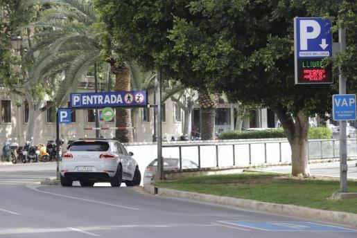 Imagen de una vía del centro de Palma
