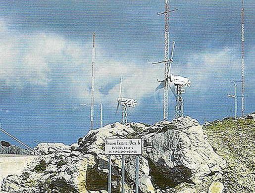 Estación de ensayo de los primeros modelos, en Alfàbia (Mallorca).