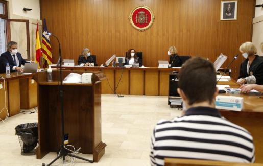 Imagen de un momento del juicio.