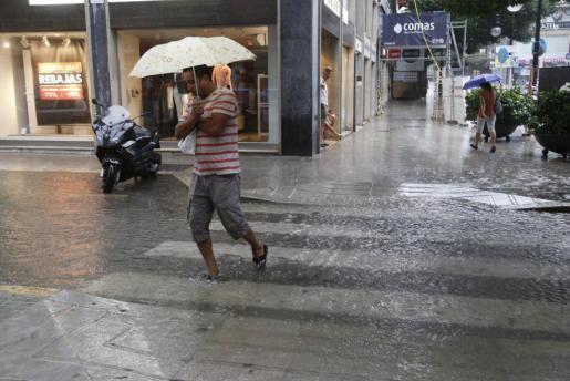 Imagen de archivo de un día de lluvia a finales de verano.