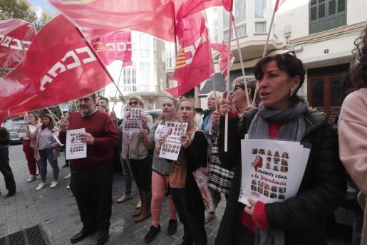 Imagen de archivo de una protesta de CCOO en Palma.