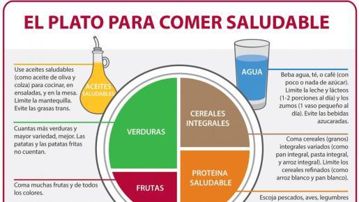 Este método consiste en dividir el plato en cuatro proporciones que se organizan según los diferentes tipos de comidas y lo que aportan al organismo.