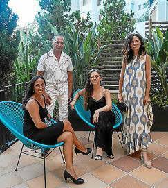Inma Ollero Bianchi, Pascual de Cabo, Eleonora Warnerbring Bianchi y Catalina Borrás.