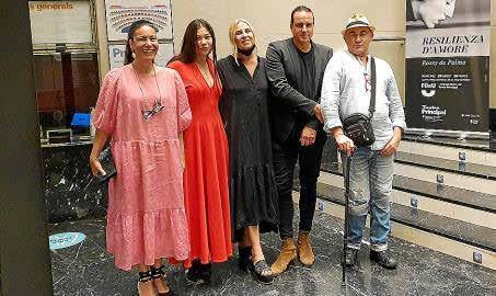 Angels Mercer, Uma Kim Gómez con su madre, Susy Gómez, Juan Antonio Horrach y Pep Noguera.