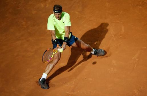 Rafa Nadal durante su encuentro contra Carreño en el Italian Open.