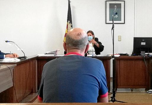 El procesado en la sala de lo Penal número 7 de los juzgados de Vía Alemania .