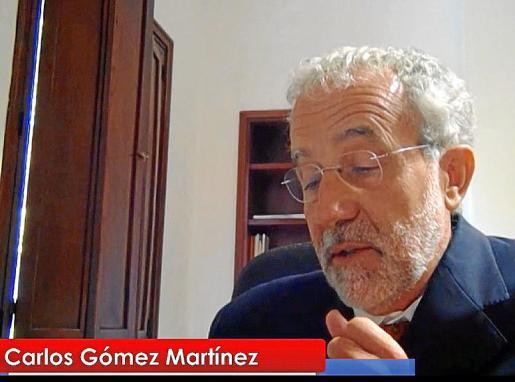Carlos Gómez compareció por videoconferencia ante el Consejo General.