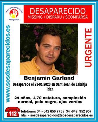 Cartel compartido por SOS Desaparecido en su cuenta de Twitter.