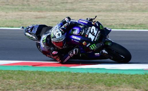 Maverick Viñales, este sábado, en el circuito «Marco Simoncelli» de Misano Adriático.