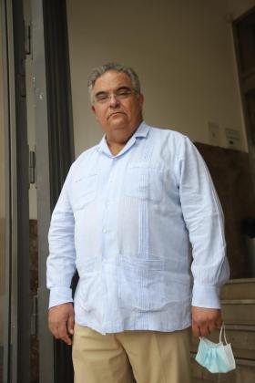 Bartomeu Barceló en las puertas de la Fiscalía de Balears.      FOTO : BOTA