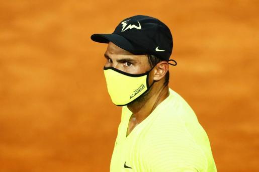 Imagen de Rafael Nadal en las instalaciones del Foro Itálico en el que se disputa el Masters 1.000 de Roma.