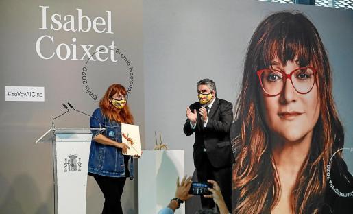 La directora y guionista catalana Isabel Coixet, recibe este sábado en el marco del Festival de Cine de San Sebastián el Premio Nacional de Cinematografa 2020.