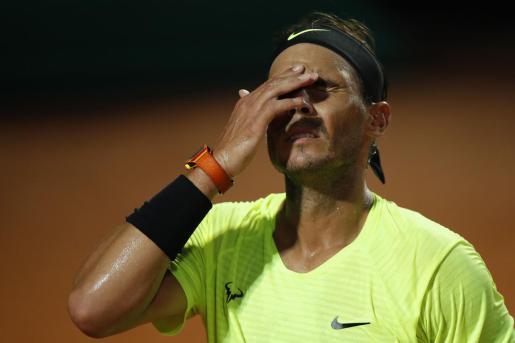 Rafael Nadal, tras finalizar el partido.