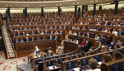 Imagen de archivo de un pleno del Congreso de los Diputados.