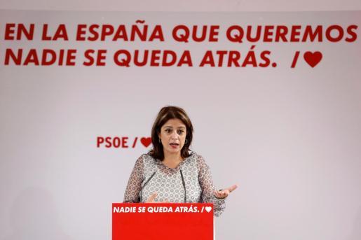 La vicesecretaria general y portavoz socialista en el Congreso, Adriana Lastra.