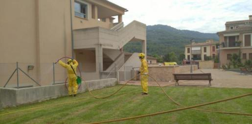 Imagen de desinfección de la residencia.