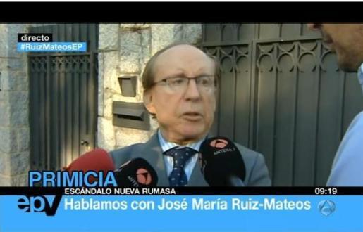 José María Ruiz Mateos, durante la entrevista que ha ofrecido a Espejo Público.