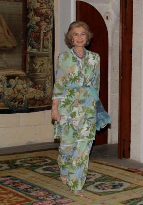 La Reina Sofía, durante su estancia de este verano en Palma.