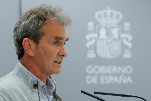 Fernando Simón, comparece en rueda de prensa para dar cuenta de los últimos datos de la pandemia de coronavirus en España.