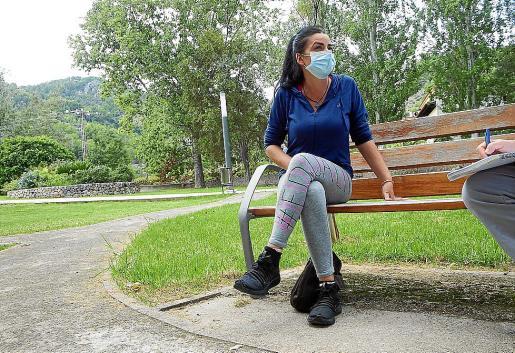 Elisabet González ha perdido a su padre, usuario de la residencia Bell Entorn.