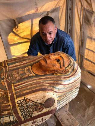 Uno de los sarcófagos hallados en la popular necrópolis de Saqqara, Patrimonio de la Humanidad y uno de los epicentros de interés para los amantes del Antiguo Egipto.