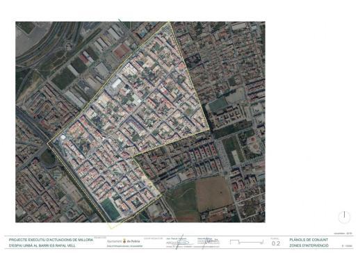 Mapa de las zonas del Rafal Vell donde se realizarán mejoras.