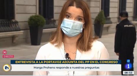 Marga Prohens durante su intervención en TVE.