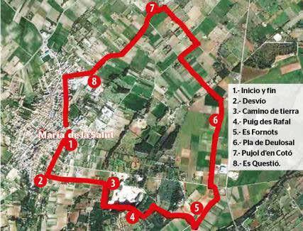 Ruta por el levante de Maria de la Salut, del Puig des Rafal al Pla de Deulosal.