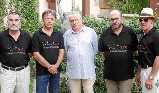 Paco Lorente, Salvador Martínez, Guillem Frontera, Luis López y Ricardo Sacco.