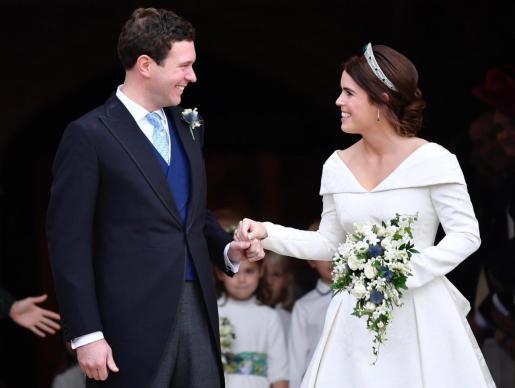 La hija del príncipe Andrés de Inglaterra se casó en 2018 con el empresario Jack Brooksbank.