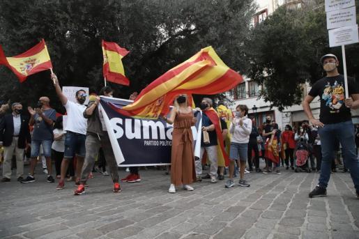 La manifestación ha empezado en la Plaza de Cort.