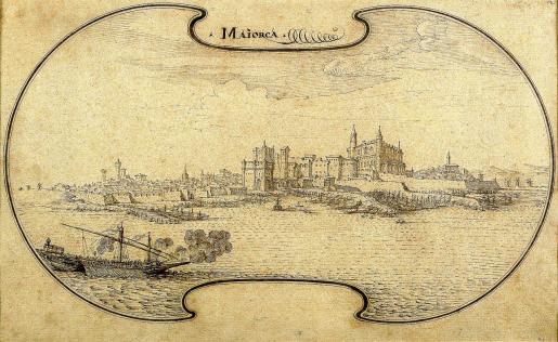 La galería Didier Aaron vende un dibujo del siglo XVII que debe ser la versión más imaginativa del perfil marítimo de Ciutat.